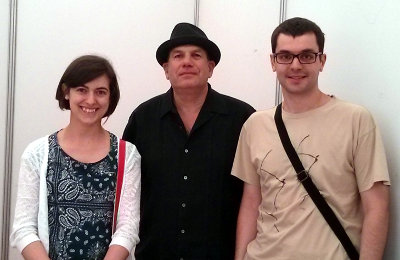 My wife, David Simon and me
